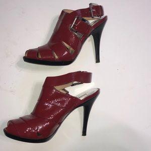 Michael Kors red leather heels